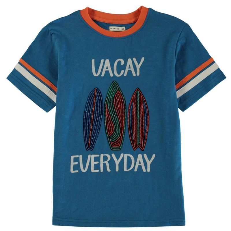 Tričko Crafted Essentials Vacation T Shirt Infant Boys Blue
