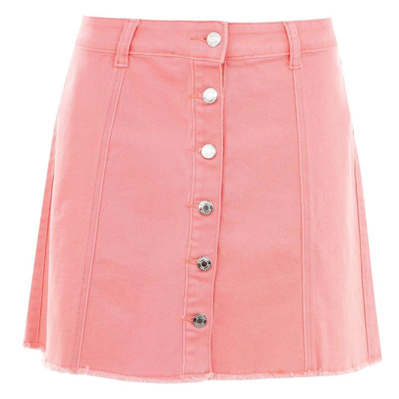 Sukně Golddigga Button Down Skirt Ladies Coral