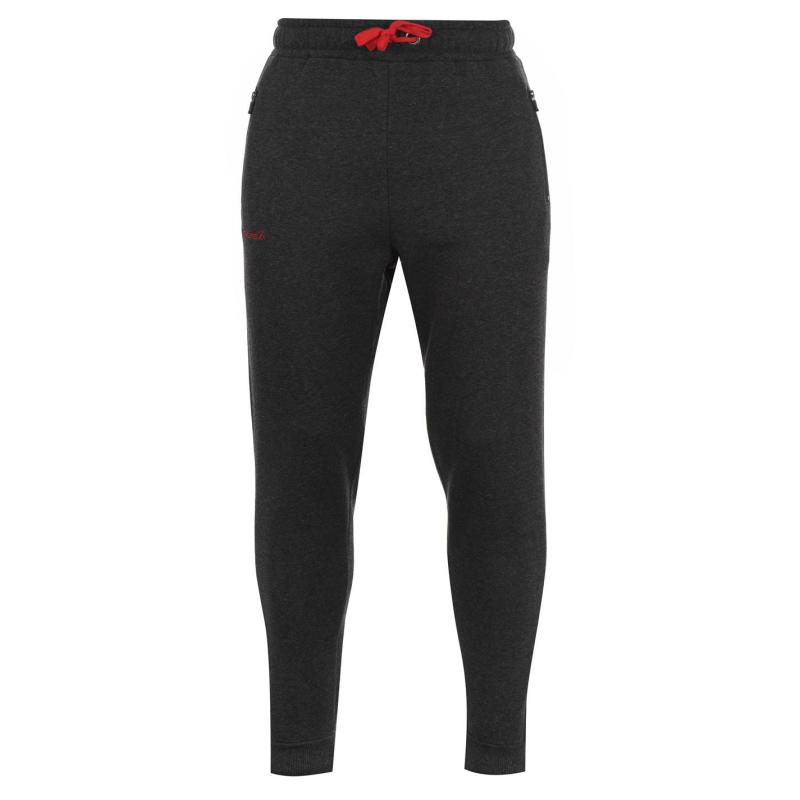 Tepláky KooGa Cuffed Jogging Bottoms Senior CHARCOAL MARL/R