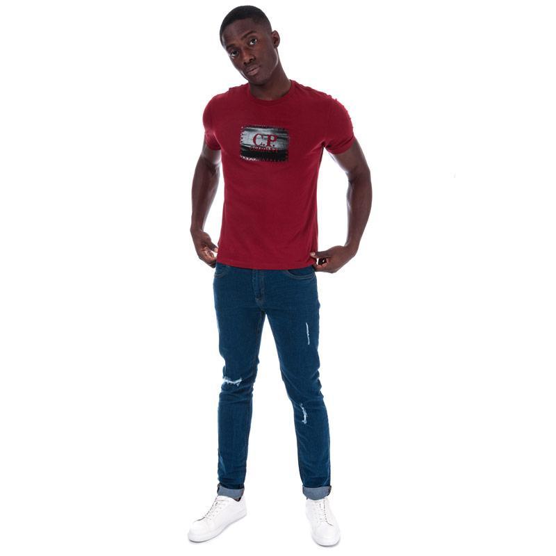 Tričko C.P. Company Mens S/S Box Logo T-Shirt Grey
