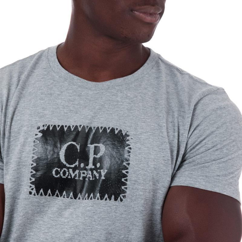 Tričko C.P. Company Mens S/S Box Logo T-Shirt Red
