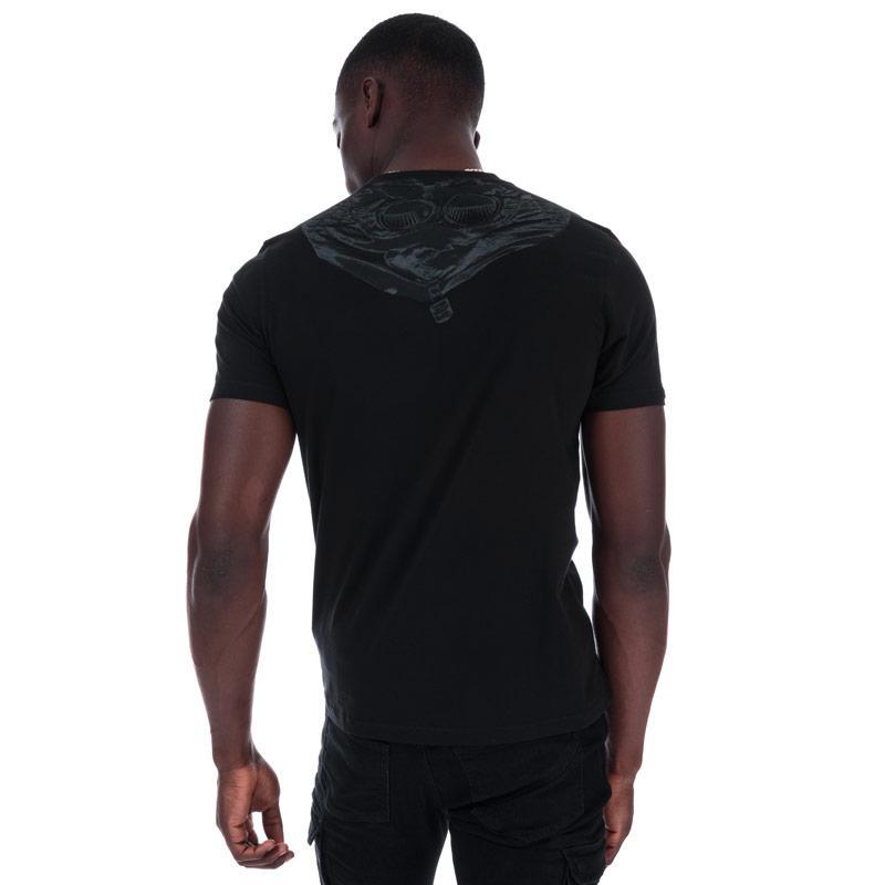 Tričko C.P. Company Mens S/S Small Chest Logo Goggles T-Shirt Black