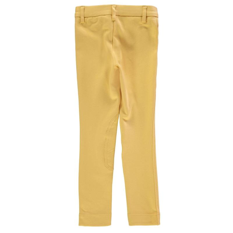 Shires Jodhpurs Junior Girls Canary