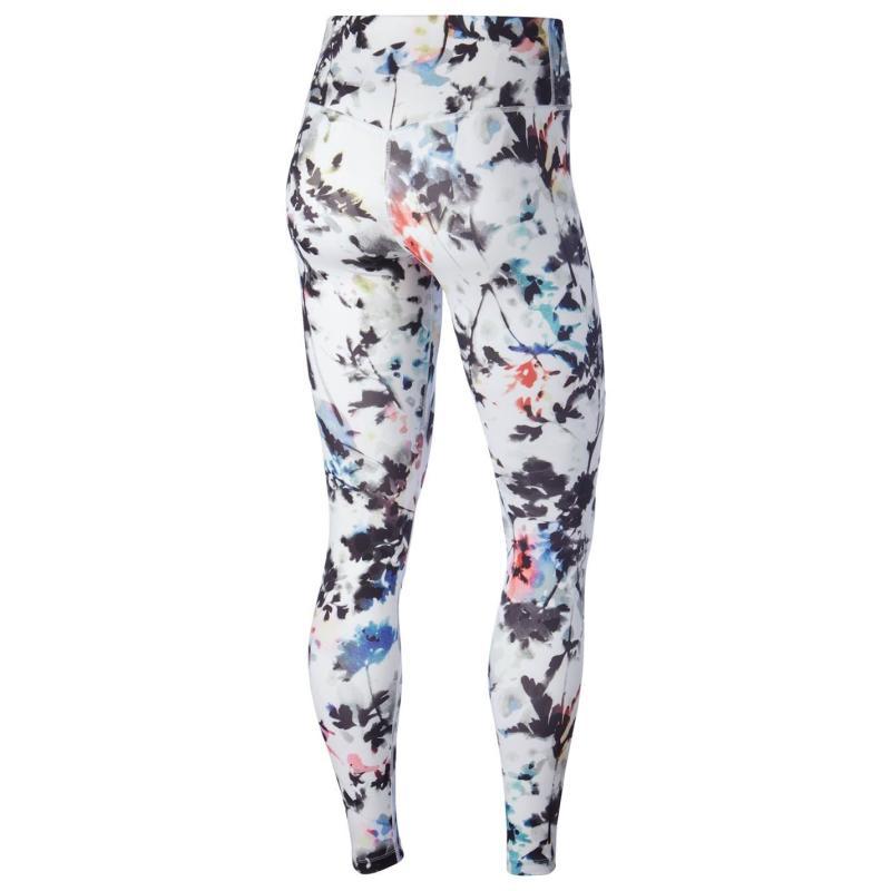 Legíny Nike All In Printed Tights Ladies White/Black