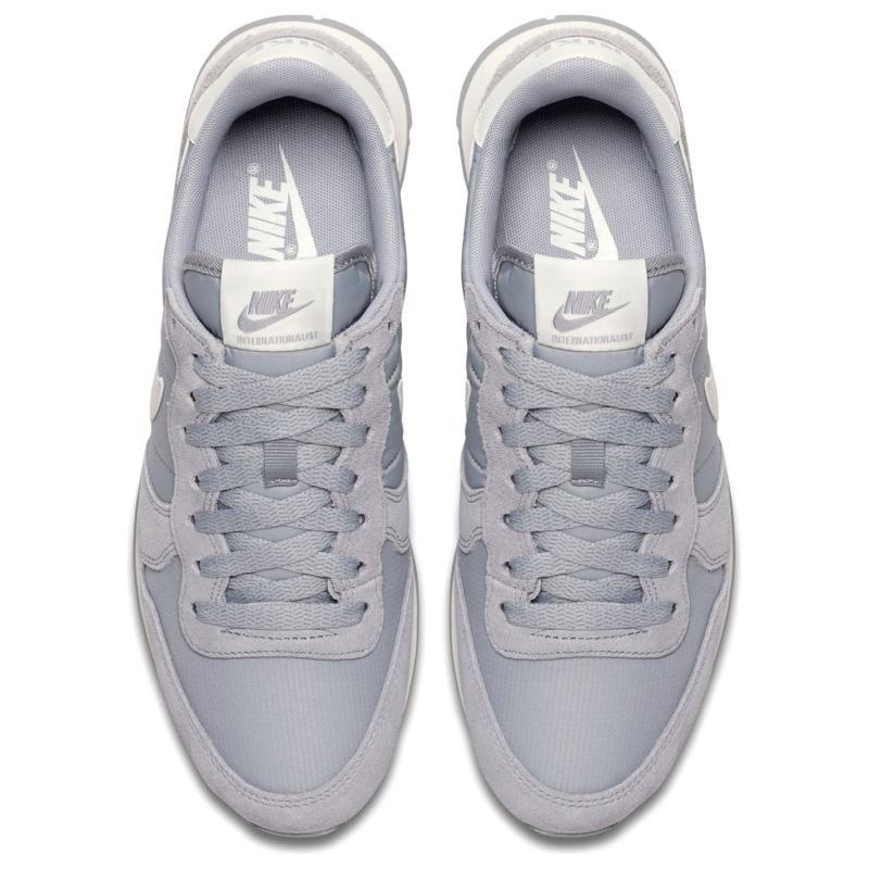 Nike Internationalist Ladies Trainers Grey/White