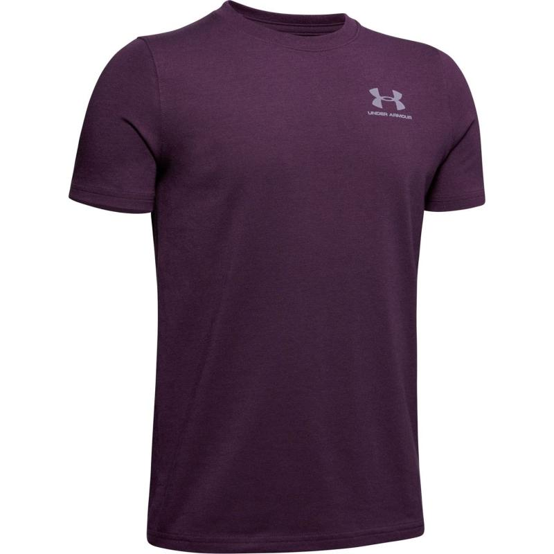 Tričko Under Armour Charged Cotton T Shirt Junior Boys Purple