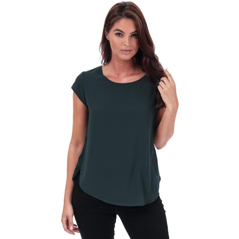 Only Womens Vic Short Sleeve Top Green
