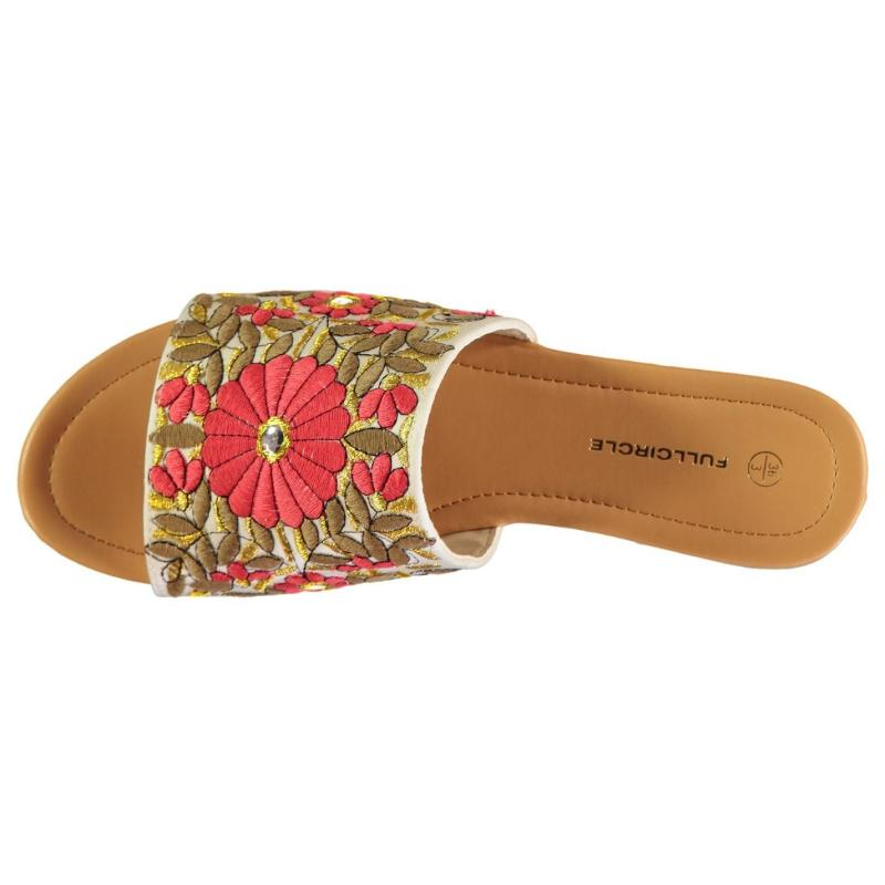 Boty Full Circle Flower Mule Lds 83 Coral