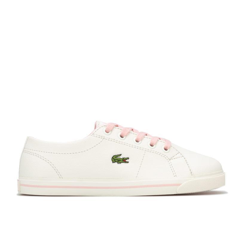 Lacoste Children Girls Riberac Trainers White pink
