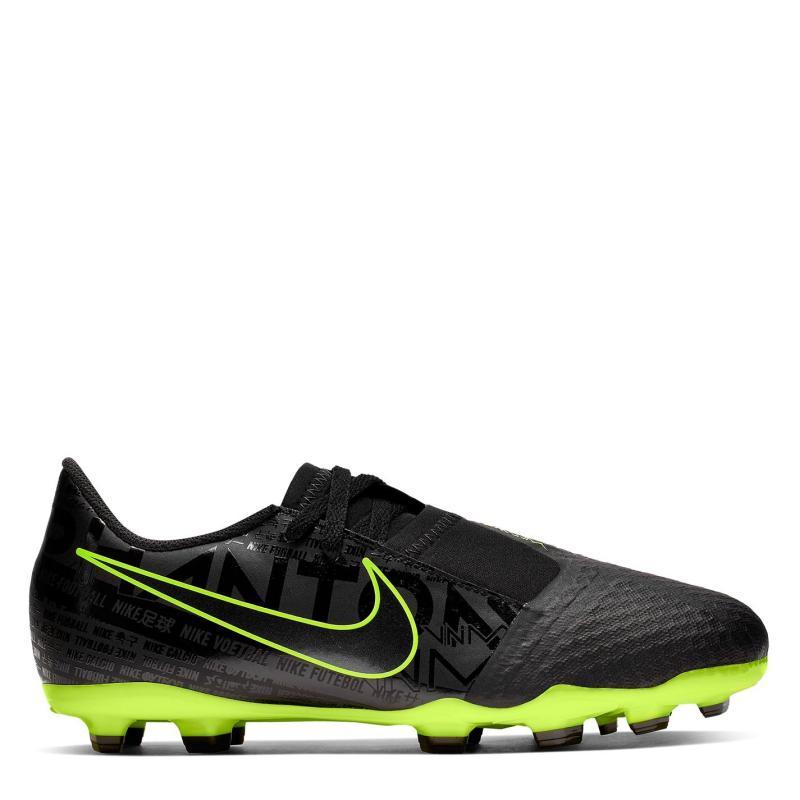 Nike Phantom Venom Academy Children's FG Football Boots Black/Volt