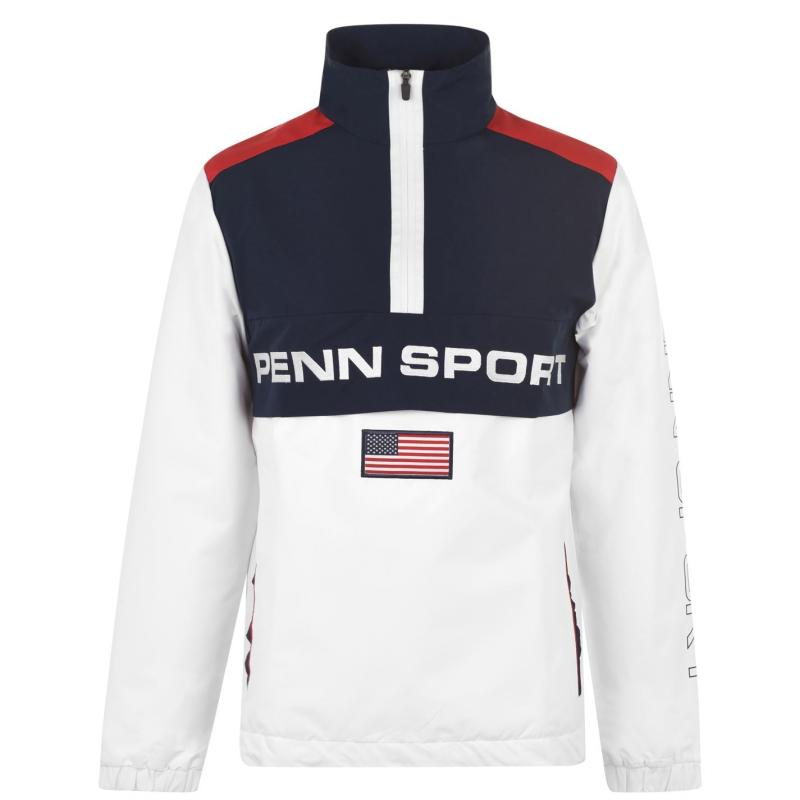 PENN Funnel Zip Jacket Mens White/Navy