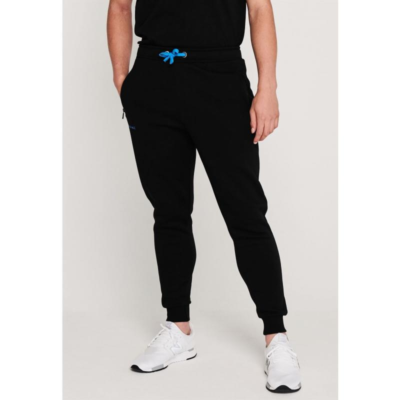 Tepláky KooGa Cuffed Jogging Bottoms BLACK/BLUE