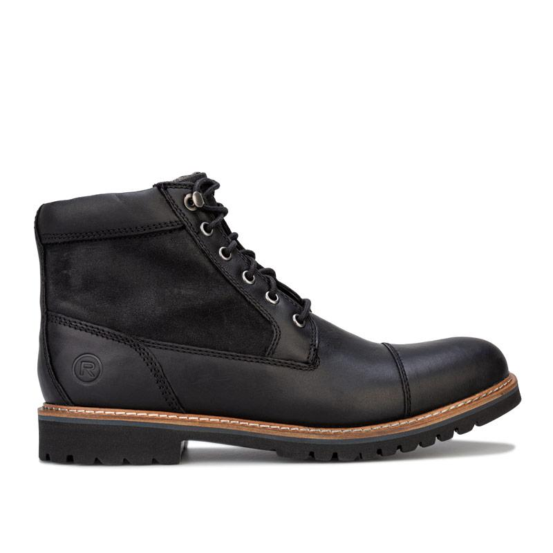 Boty Rockport Mens Marshall Rugged Cap Toe Boots Black