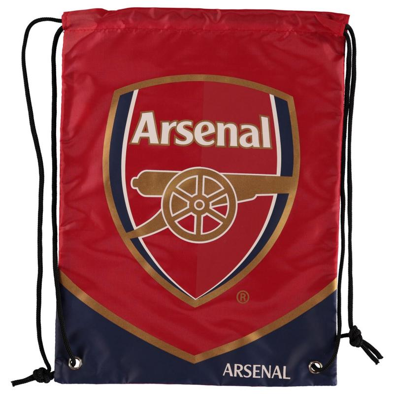 Team Football Swoop Drawstring Gym Bag Arsenal