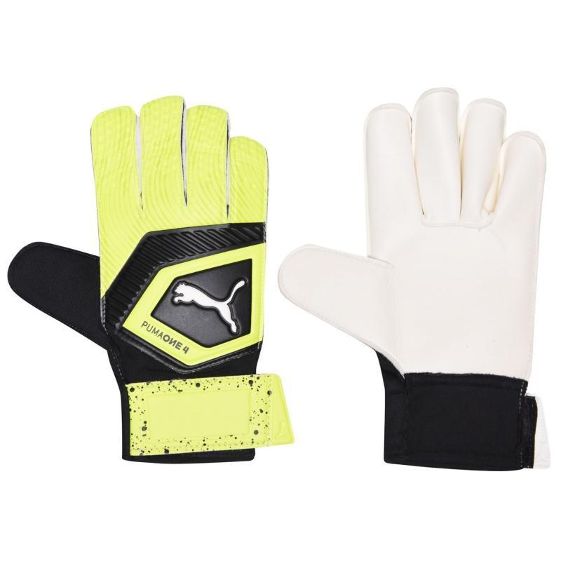 Puma One 4 Goalkeeper Gloves Junior Boys Fluo/Black