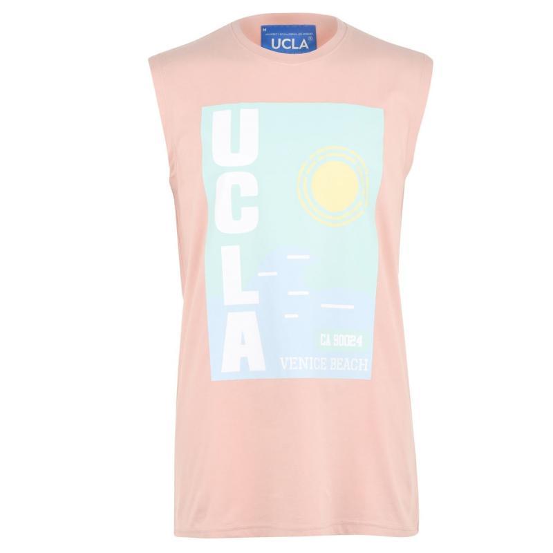 Tílko UCLA Sleeveless T Shirt Mens Dusty Pink
