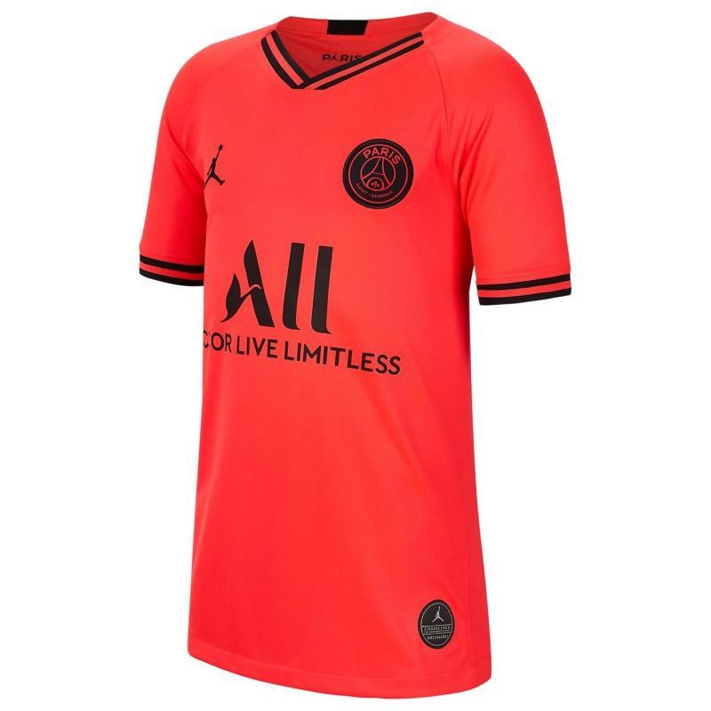 Air Jordan Paris Saint Germain x Jordan Away Shirt 2019 2020 Junior Red/Black