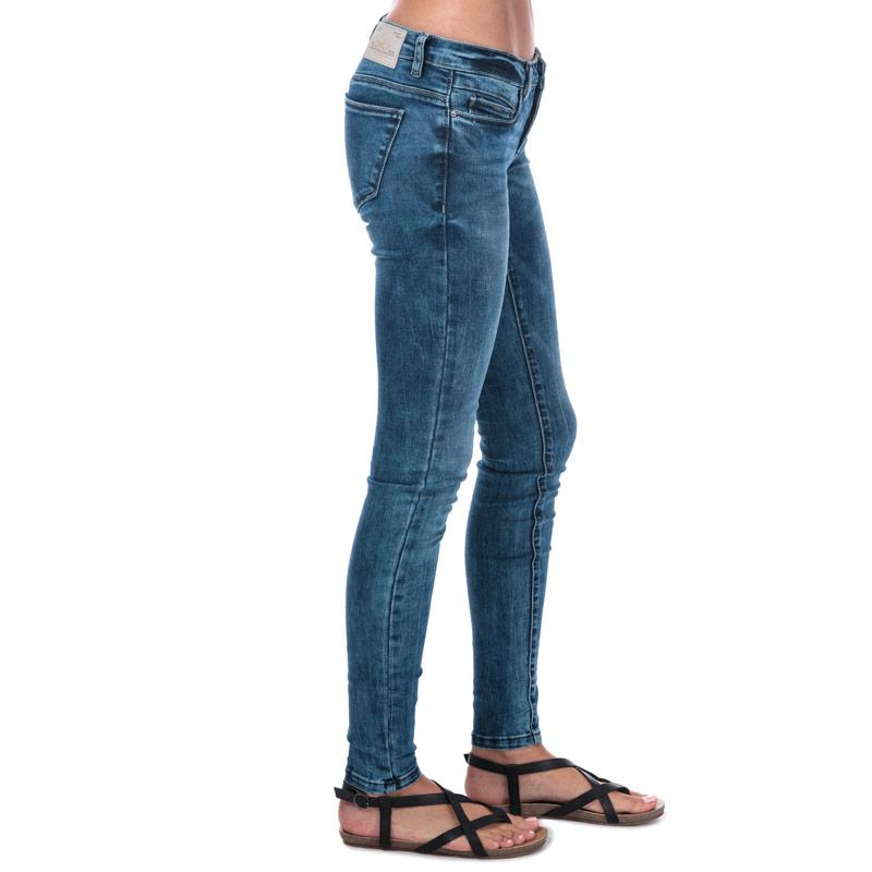 Only Womens Coral Low Skinny Jeans Denim