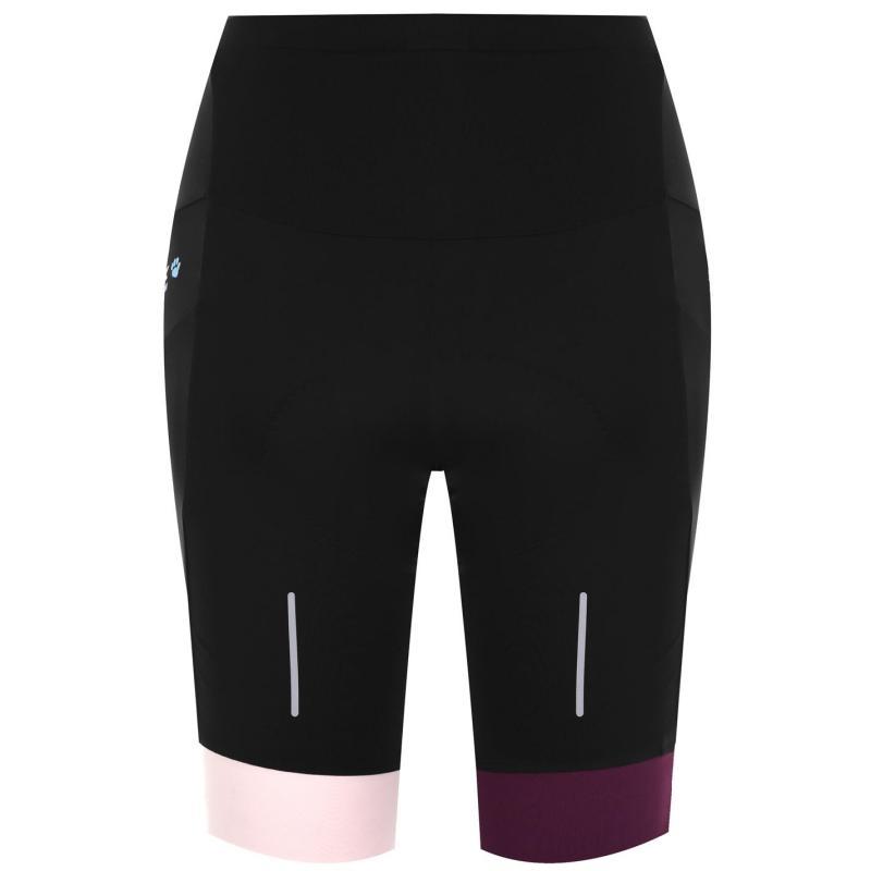 Muddyfox Pure Padded Cycle Shorts Ladies Blk/Prpl/Berry