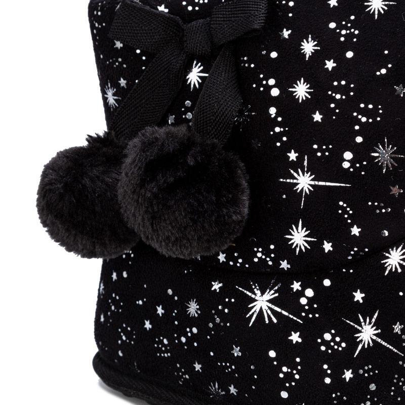 Rocket Dog Womens Snowflake Celeste Bootie Slippers Black