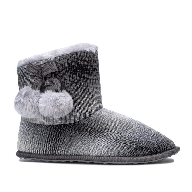 Rocket Dog Womens Snowflake Squad Bootie Slippers Charcoal
