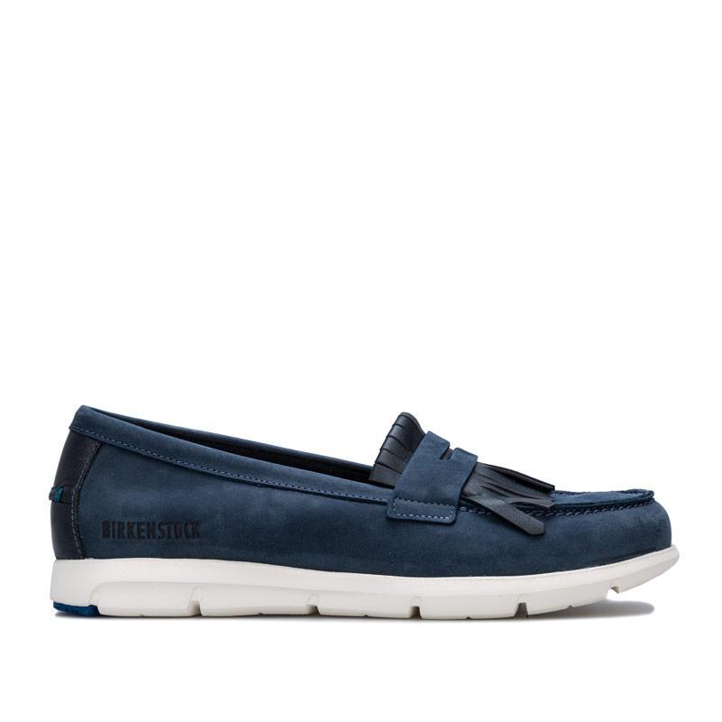 Birkenstock Womens Saitama Shoes Narrow Width Navy