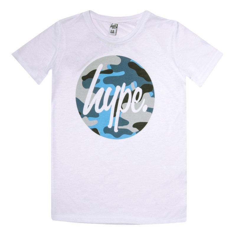 Tričko Hype Junior Boys Camo Circle T-Shirt White