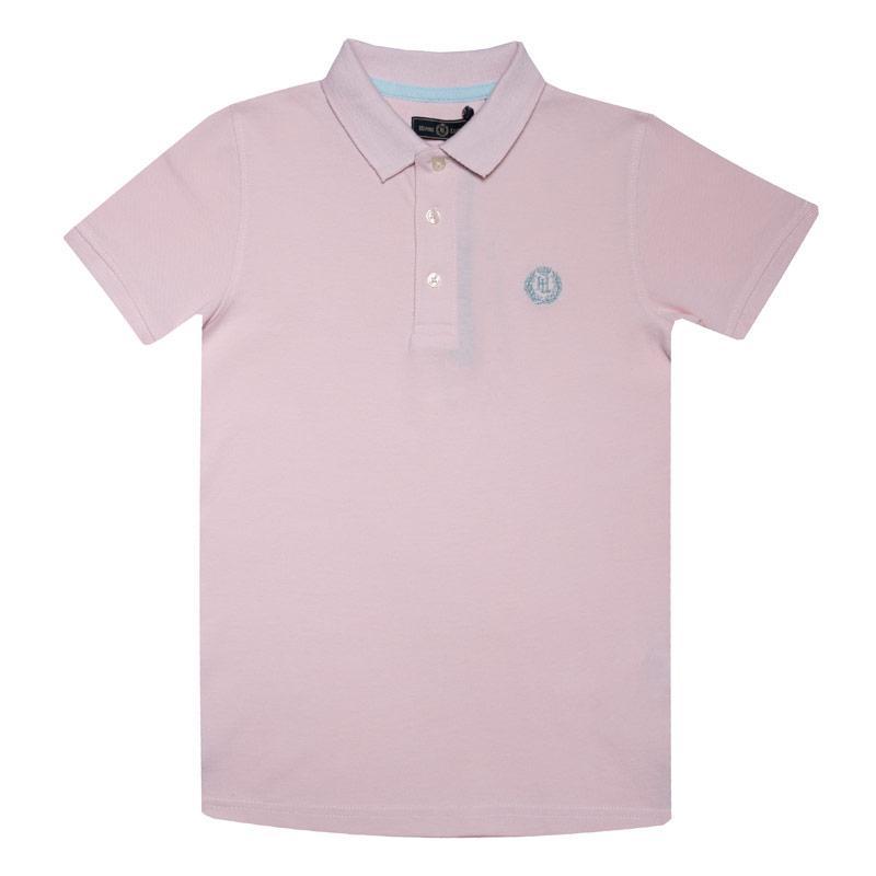 Tričko Henri Lloyd Junior Boys Pop Collar Polo Shirt Pink
