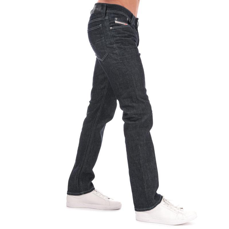 Diesel Mens Waykee Straight Leg Jeans Blue Velikost - W30 L