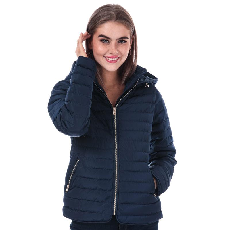 Tokyo Laundry Womens Ginger Hooded Jacket Navy