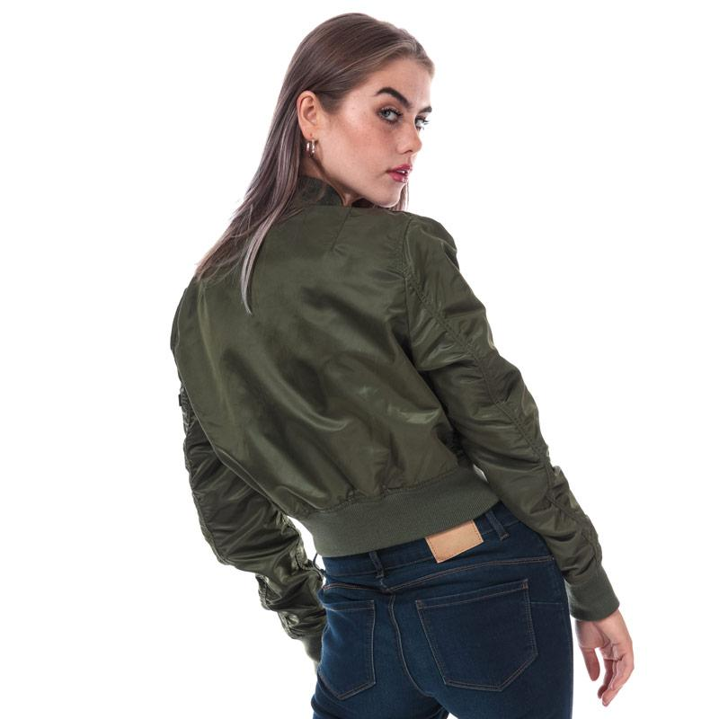 Alpha Industries Womens MA1 PM Cropped Jacket Green
