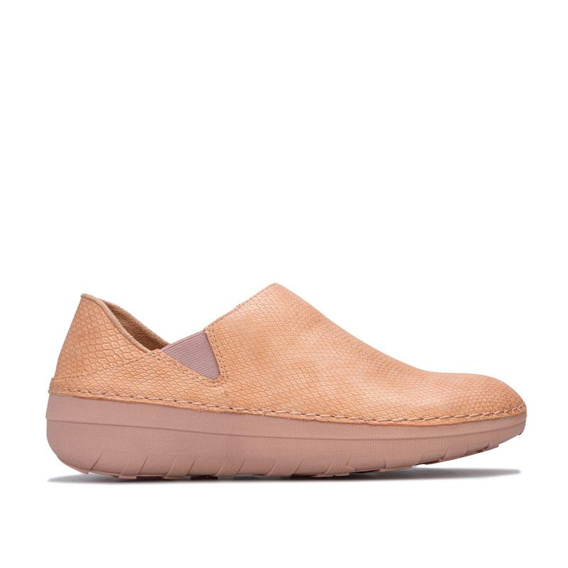 Fit Flop Womens Superloafer Shimmersnake Shoes Nude