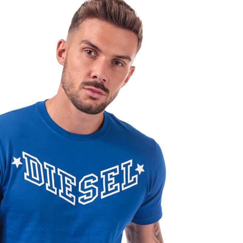 Tričko Diesel Mens R-Joe-I T-Shirt Blue