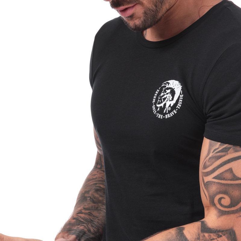 Tričko Diesel Mens UMTEE-Randal T-Shirt Black