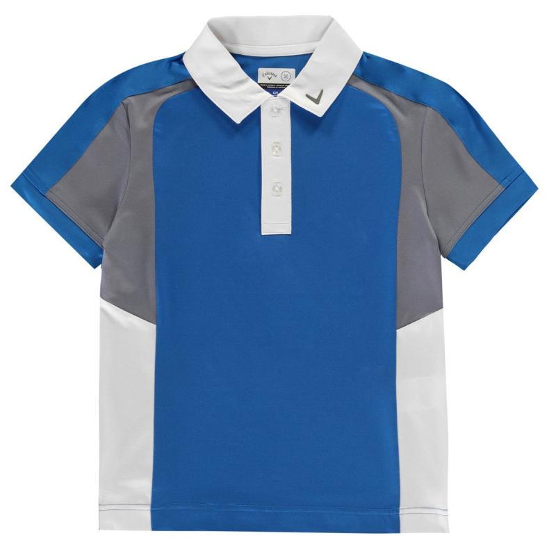 Tričko Callaway Block Golf Polo Shirt Junior Boys Electric Blue L