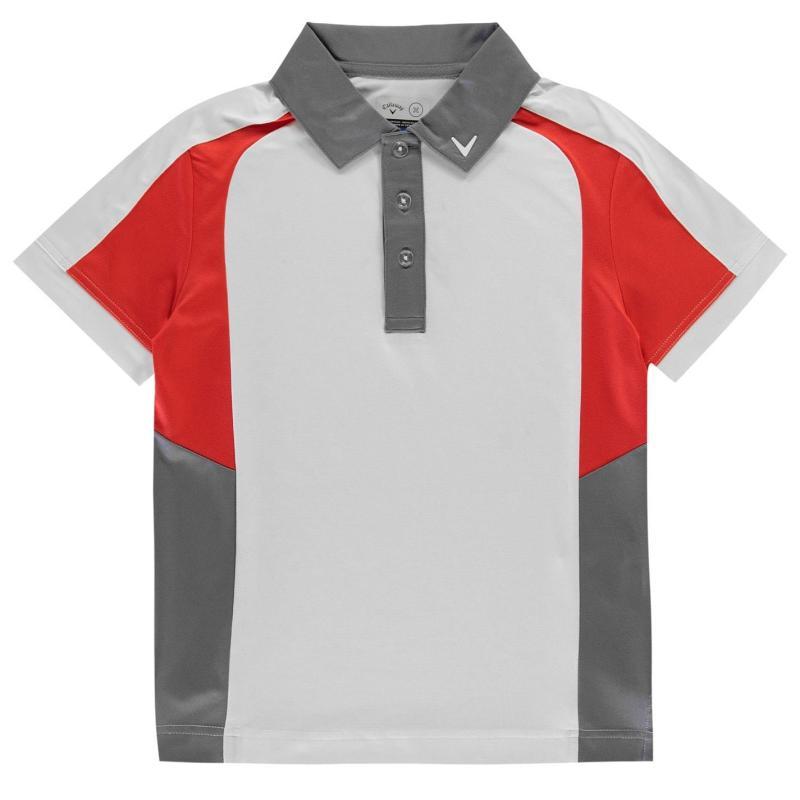 Tričko Callaway Block Golf Polo Shirt Junior Boys Bright White