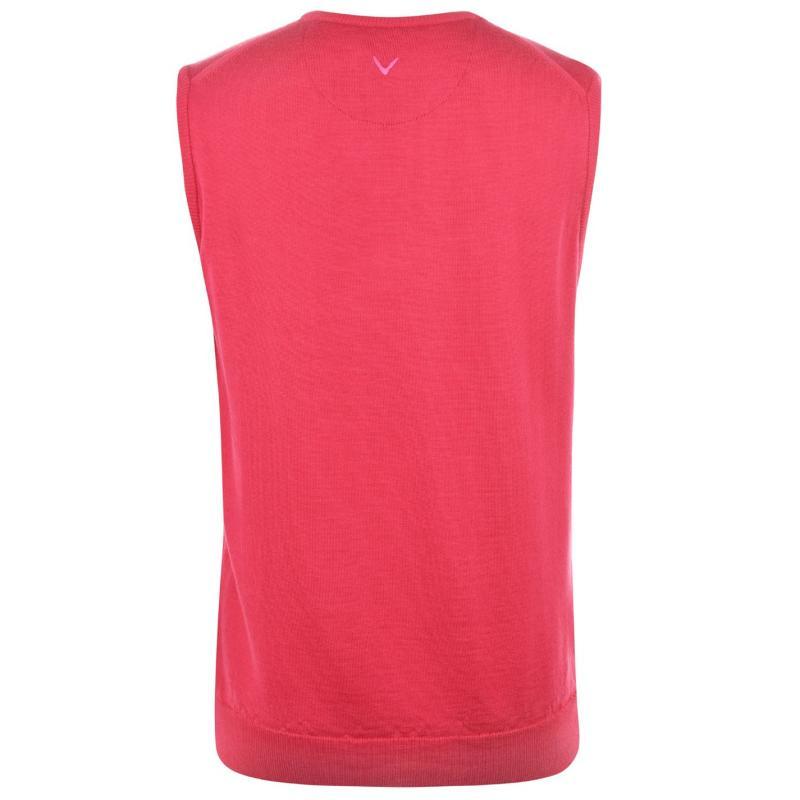 Callaway Sweater Vest Mens Raspberry