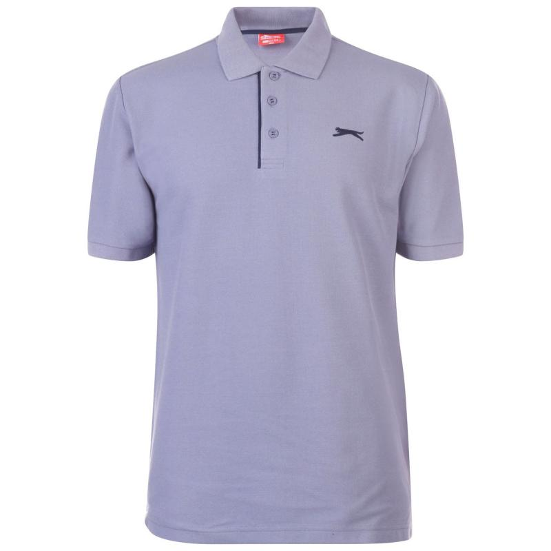 Slazenger Plain Polo Shirt Mens Granite