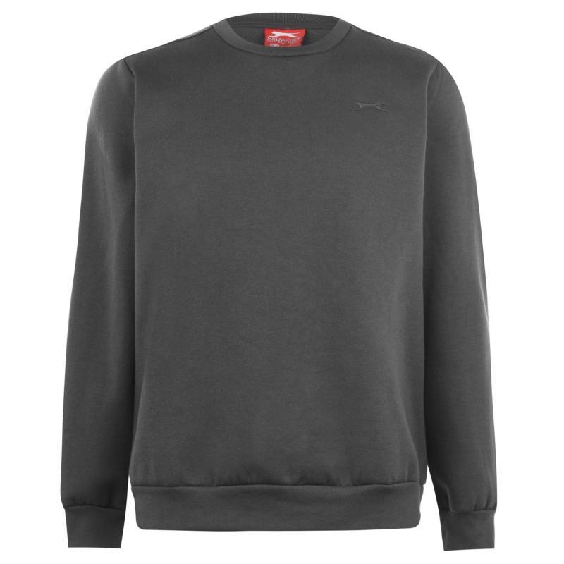 Mikina Slazenger SL Fleece Crew Sweater Mens Dark Grey