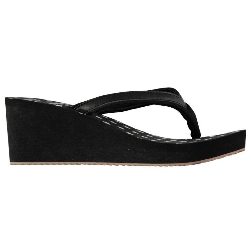 Boty SoulCal EVA Wedge Flip Flops Ladies Black