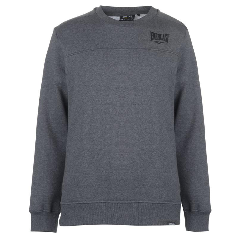 Mikina Everlast Crew Neck Sweatshirt Mens Charcoal Marl