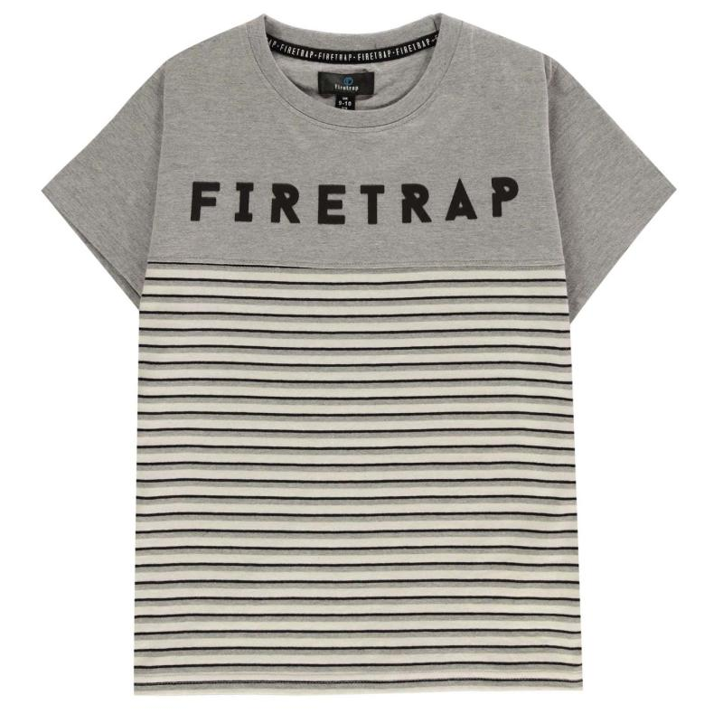 Tepláky Firetrap 3 Piece Jogger Set Junior Boys Grey