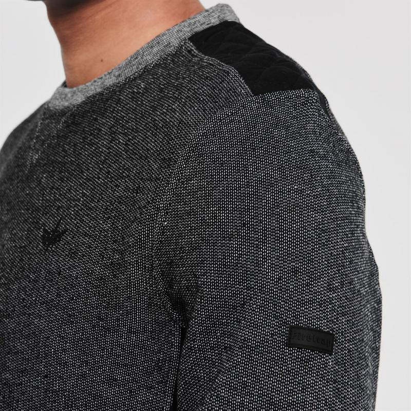 Mikina Firetrap Church Crew Sweatshirt Mens Charcoal/Navy