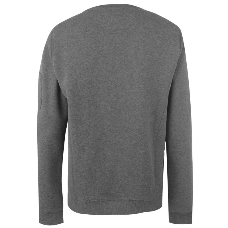 Mikina Firetrap Crew Sweatshirt Mens Charcoal Marl