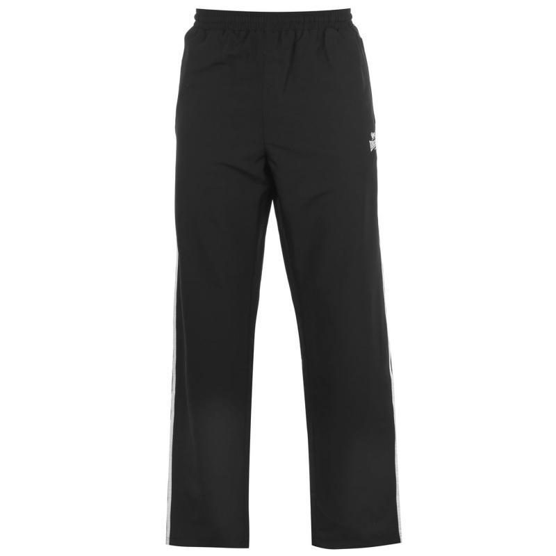 Tepláky Lonsdale 2 Stripe Open Hem Woven Pants Mens Black/White