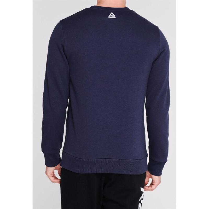 Mikina Reebok Big Logo Crew Sweater Mens Heritage Navy