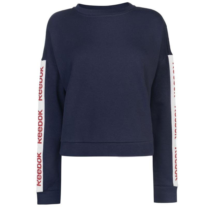 Mikina Reebok Linear Crew Neck Sweatshirt Ladies Heritage Navy