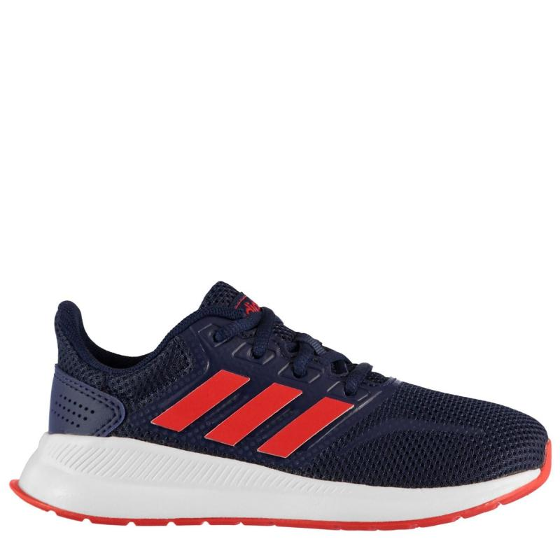 Boty adidas Falcon Childrens Trainers Navy/Red/Wht