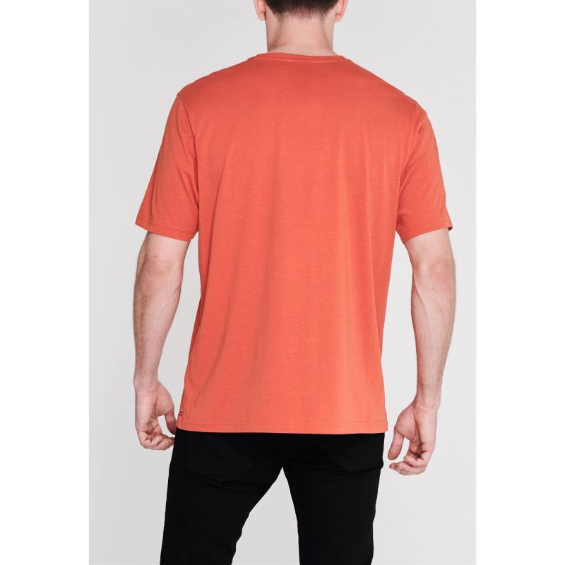 Tričko Slazenger Plain T Shirt Mens Dark Orange