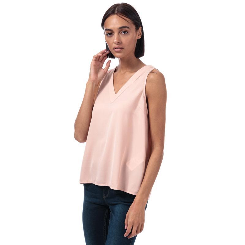 Vero Moda Womens Carola V-Neck Top Rose